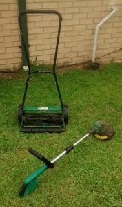 Push mower and electric trimmer