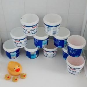 Buckets in a shower