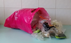 Soft plastics for recycling.